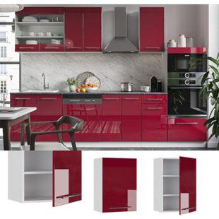 VICCO Hängeschrank 50 cm Bordeaux Hochglanz Küchenschrank Hängeschrank Küchenzeile Fame-Line - Bild 1