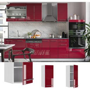VICCO Hängeschrank 30 cm Bordeaux Hochglanz Küchenschrank Oberschrank Küchenzeile Fame-Line - Bild 1