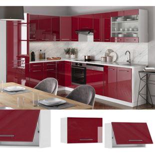 VICCO Hängeschrank 60cm (flach) Bordeaux Hochglanz Küchenschrank Dunstabzug Küchenzeile Fame-Line - Bild 1