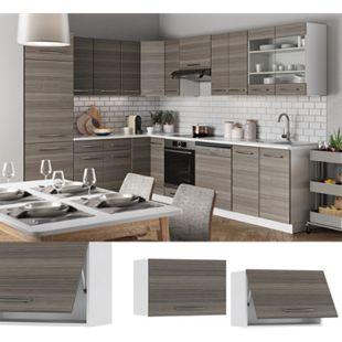VICCO Hängeschrank 60cm (flach) Edelgrau Küchenschrank Dunstabzug Küchenzeile Fame-Line - Bild 1