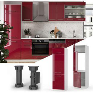 VICCO Kühlumbauschrank 60 cm Küchenschrank Hochschrank Küchenzeile Fame-Line - Bild 1