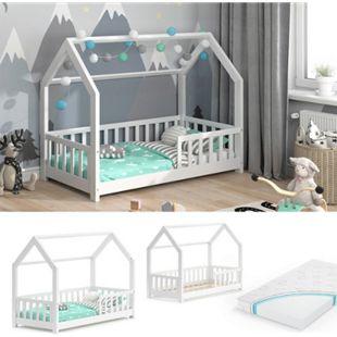 VitaliSpa Kinderbett Hausbett Spielbett Wiki 80x160cm Matratze Rausfallschutz - Bild 1