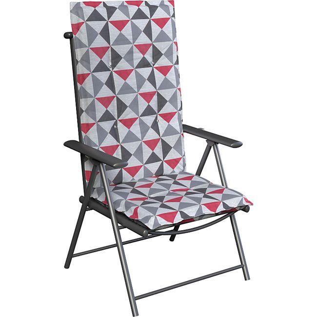 Hochlehner Auflagen Sitzkissen Gartenstuhl Auflage Stuhlauflage Sitz Polster 7 Modelle... Rot - Bild 1