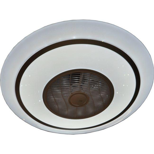 Deckenventilator Metall weiß, 1xLED - Bild 1