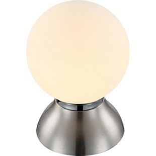 Tischleuchte Chrom nickel matt, 1xE14 LED - Bild 1