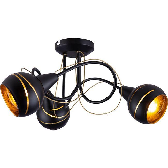 Globo Lighting LOMMY Deckenleuchte Metall schwarz, 3xE14 - Bild 1