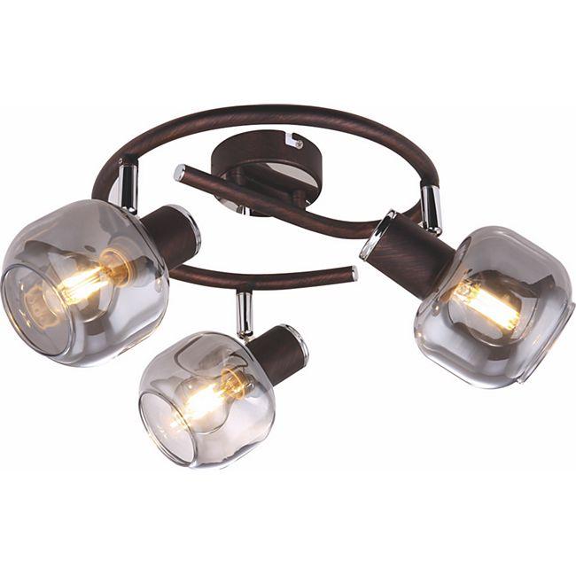 Globo Lighting PALLO Strahler Metall bronzefarben, 3xE14 - Bild 1