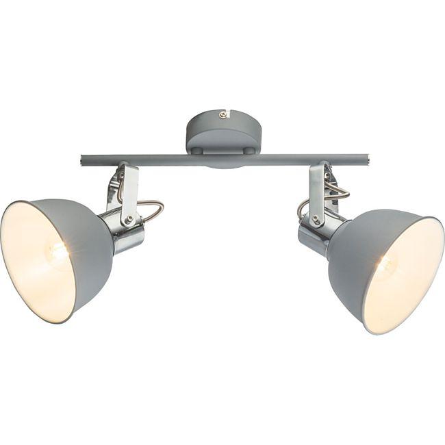 Globo Lighting GERDA Strahler Metall grau, 2xE14 - Bild 1