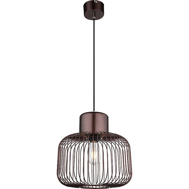 Globo Lighting AKIN Hängeleuchte Metall bronzefarben, 1xE27 - Bild 1