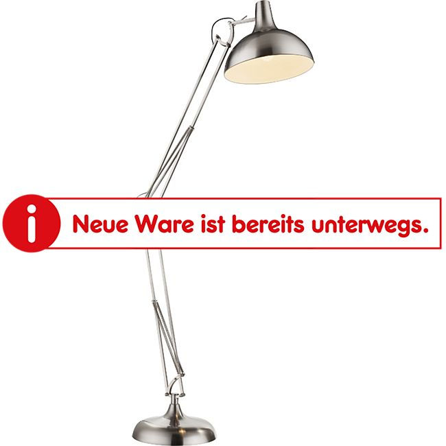 Globo Lighting CONNY Stehleuchte nickel matt, 1xE27 - Bild 1