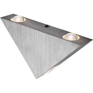 Wandleuchte Aluminium gebürstet, 3xLED - Bild 1