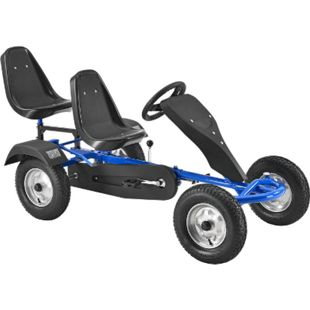 ArtSport 2-Sitzer Gokart mit Schalensitz & Luftreifen – Kinderfahrzeug Spielzeug für Kinder blau - Bild 1