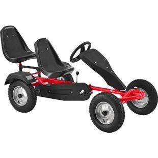 ArtSport 2-Sitzer Gokart mit Schalensitz & Luftreifen – Kinderfahrzeug Spielzeug für Kinder rot - Bild 1