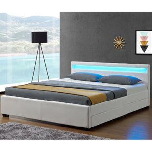 ArtLife Polsterbett Lyon mit Bettkasten 140 x 200 cm in weiß - Bild 1