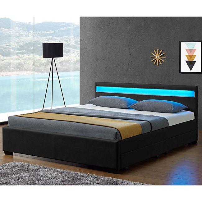 ArtLife Polsterbett Lyon mit Bettkasten 140 x 200 cm in schwarz - Bild 1