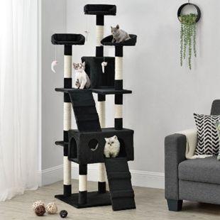 Sam´s Pet Katzen-Kratzbaum Amy schwarz | Katzenbaum mit Höhlen, Liegeflächen, Treppen & Sisal Stämme - Bild 1