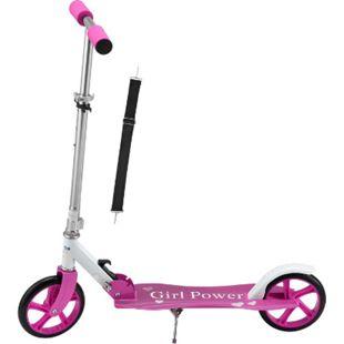 ArtSport Scooter Cityroller Mädchen Big Wheel 205mm Räder klappbar höhenverstellbar – Kinder-Roller - Bild 1