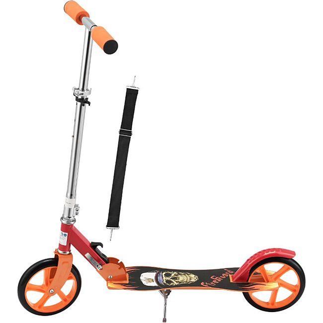 ArtSport Scooter Cityroller Fire Big Wheel 205 mm Räder klappbar höhenverstellbar – Kinder-Roller - Bild 1