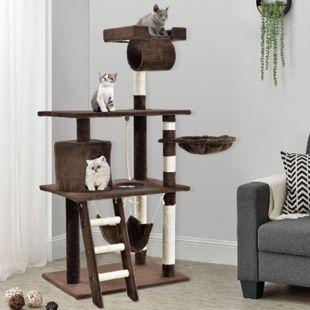 Sam´s Pet Katzen-Kratzbaum Chiara braun | Katzenbaum inkl. Höhle, Liegemulde, Hängematte - Bild 1