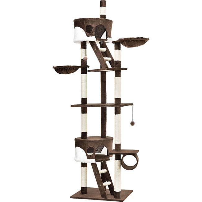 Sams Pet Kratzbaum Balou braun mit weiss Kletterbaum für Katzen Katzenbaum - Bild 1