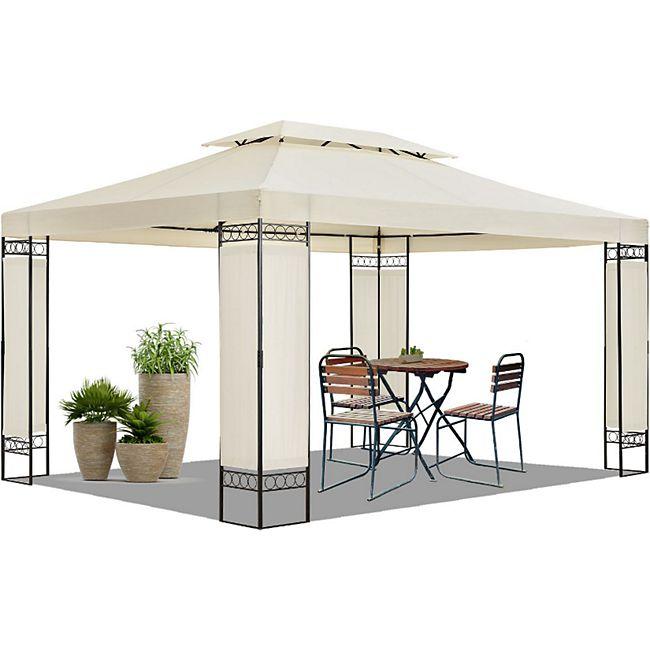 ArtLife Pavillon Gartenzelt Capri 3 x 4 m mit Stahlgerüst in Creme & Schwarz - Bild 1