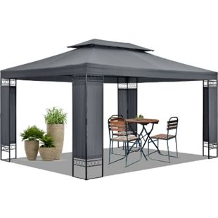 Gartenzelt Capri 3 x 4 m in grau – Outdoor Pavillon wasserdicht und faltbar   Artlife - Bild 1