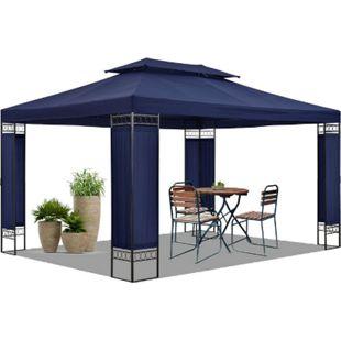 Gartenzelt Capri 3 x 4 m in blau – Outdoor Pavillon wasserabweisend | Juskys - Bild 1