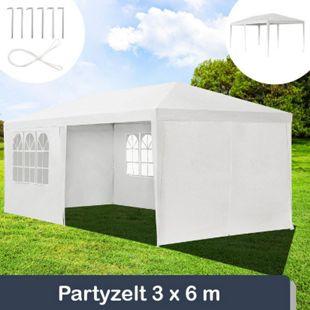ArtLife Partyzelt Gartenzelt 3 x 6m mit Stahlgerüst und Seitenwänden in weiss - Bild 1