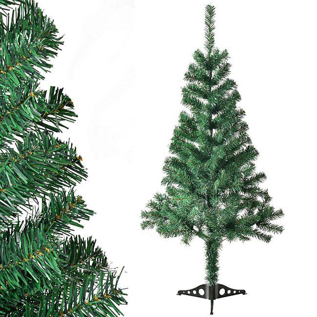Juskys Künstlicher Weihnachtsbaum Tannenbaum 120 cm grün inkl. Ständer - Bild 1