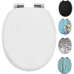 Juskys WC-Sitz Toilettensitz White in weiß aus MDF mit Absenkautomatik - Bild 1