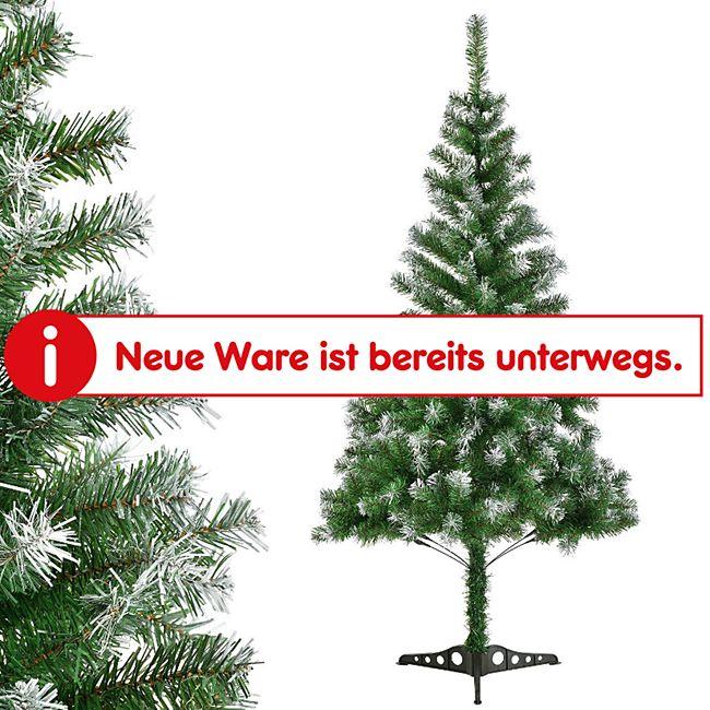 Weihnachtsbaum 120 cm künstlich mit Schnee & Ständer – Tannenbaum Innen – Weihnachtsdeko   Juskys - Bild 1