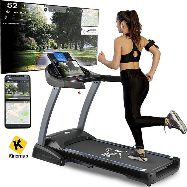 ArtSport Laufband Speedrunner 7000 klappbar, Kinomap-Funktion, 3 PS Motor, 22 km/h, 48 Programme - Bild 1