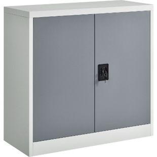 Juskys Aktenschrank Office 90x90 2-farbig mit 2 Türen aus Metall - Bild 1