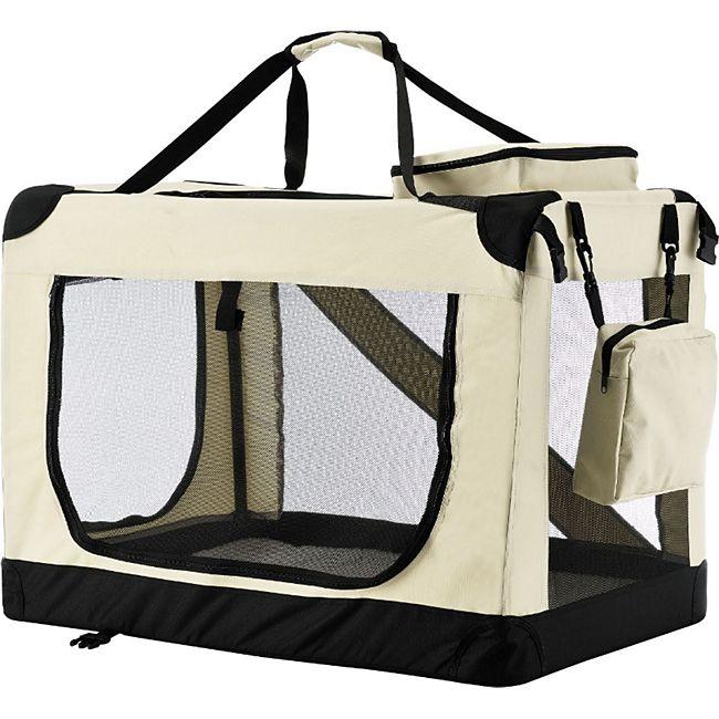 Sams Pet faltbare Hundetransportbox Lassie S in beige - Bild 1