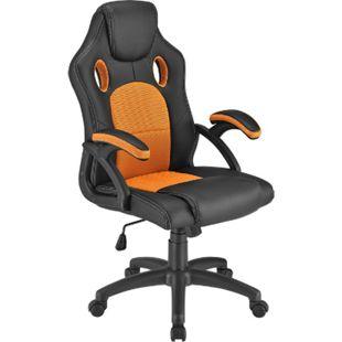 ArtLife Racing Schreibtischstuhl Montreal ergonomisch Bürostuhl PC Gaming Stuhl – orange - Bild 1