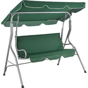 ArtLife Hollywoodschaukel 3-Sitzer mit Dach & Sitzauflage – Gartenschaukel 200 kg belastbar - grün - Bild 1
