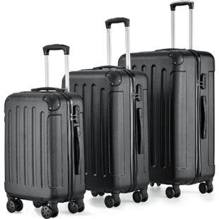 Juskys Hartschalen-Koffer Set Yara 3-teilig – 3 Trolley mit Schloss, Griff und 360° Rollen - Bild 1