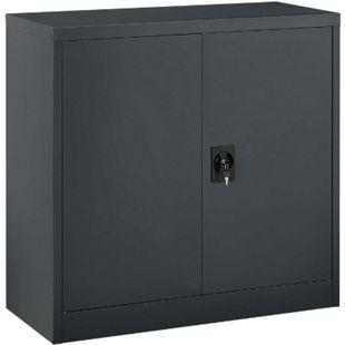 Juskys Metall Aktenschrank Office mit 2 Türen & 2 Einlegeböden | 90 x 90 cm | abschließbar - Bild 1
