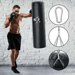 ArtSport Boxsack Set gefüllt mit Stahlkette und Karabinerhaken für Erwachsene | 30 kg | schwarz - Bild 1