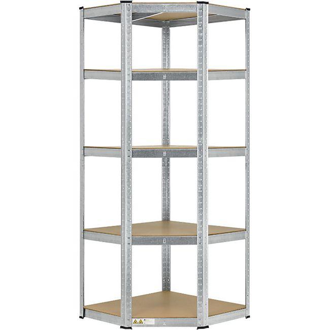 Lageregal Corner Basic 180 x 70 x 40-70 cm | 875 kg | 5 Böden | Schwerlastregal Metall | Juskys - Bild 1