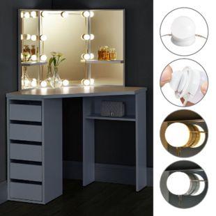 ArtLife Schminktisch Nova mit LED-Beleuchtung, Spiegel, Schubladen & Fächer | weiß | Frisiertisch - Bild 1