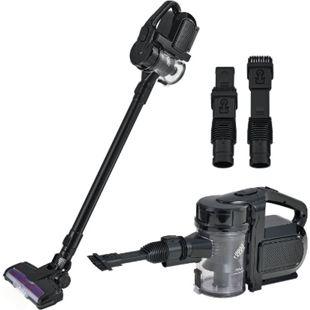 Juskys 2in1 Handstaubsauger VAC100 Pro schwarz mit Wandhalterung beutellos kabellos 150 Watt - Bild 1