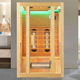 Artsauna Infrarotkabine Nyborg S120V Vollspektrumstrahler & Ambiente LED Beleuchtung – Kabine für 2 - Bild 1