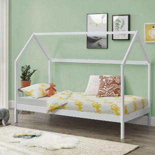 ArtLife Kinderbett Lea 90 x 200 cm mit Lattenrost & Dach - Bett für Kinder aus massivem Kiefernholz - Bild 1