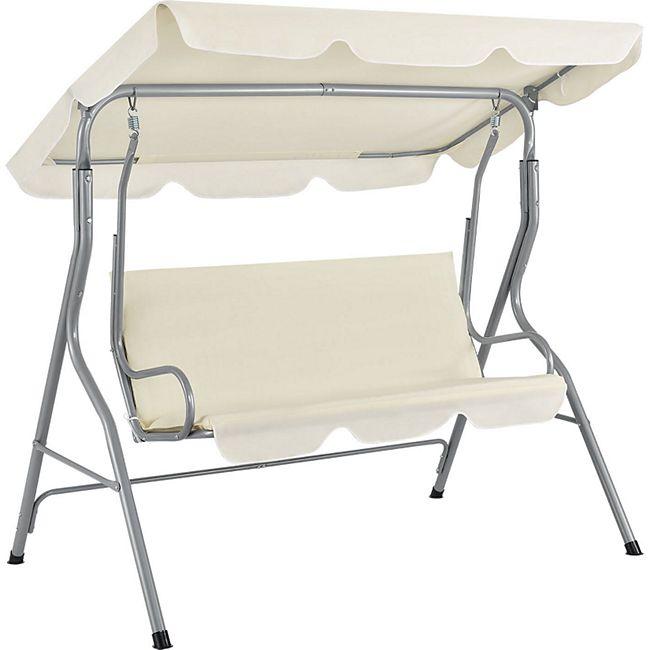ArtLife Hollywoodschaukel 3-Sitzer mit Dach & Sitzauflage – Gartenschaukel 200 kg belastbar – beige - Bild 1