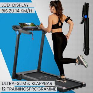 ArtSport Laufband Speedrunner SR1418 – Heimtrainer 12 Programme, Pulsmesser, LCD-Display, Bluetooth - Bild 1