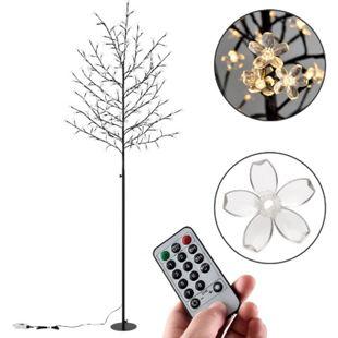 Kirschblüten Lichterbaum 180 cm mit Fernbedienung & Timer – 200 LED & 8 Leuchtmodi | Juskys - Bild 1