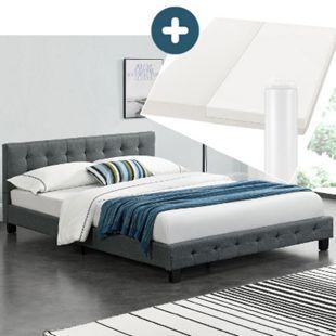 Polsterbett Manresa 140 x 200 cm - Bett Komplett-Set mit Matratze, Lattenrost und Kopfteil | Artlife - Bild 1