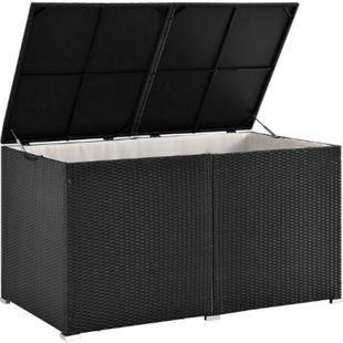 Polyrattan Auflagenbox Ikaria 950 L mit Deckel & Innenplane – Garten Kissenbox Gartenbox | Juskys - Bild 1