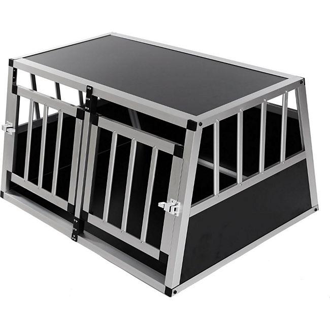 zoomundo Hundetransportbox / Kofferraumbox aus Aluminium - 2-Türig Premium - Bild 1